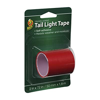 Duck Brand 896026 Automotive Tail Light Tape, 2-Inch by 6-Feet Single Roll, Red: Home Improvement
