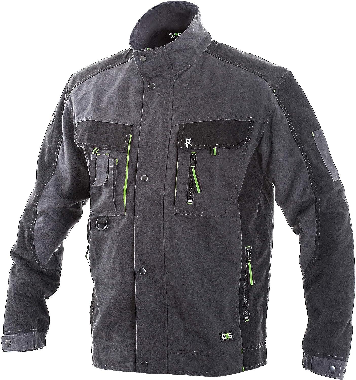 Grey//Black DINOZAVR Sirius Mens Multifunctional Work Jacket Heavy-Duty