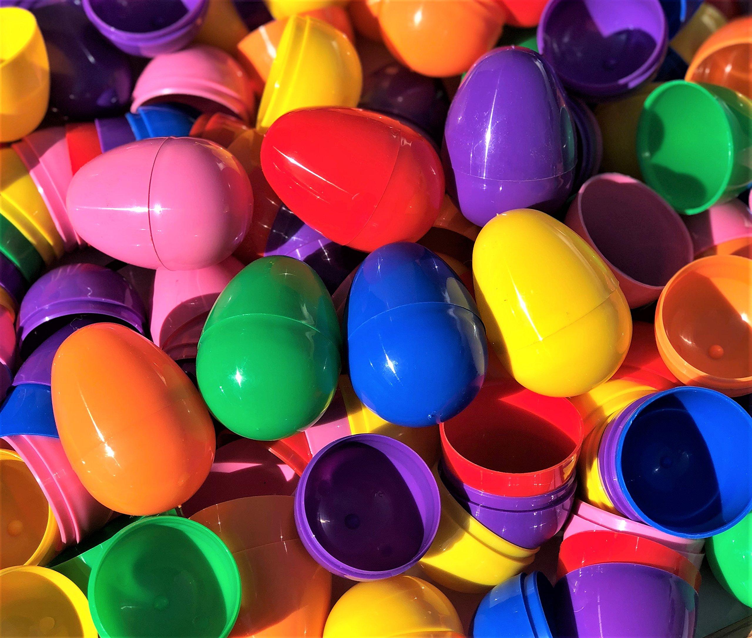Assortmart 2.25 Assorted Color Plastic Eggs Totem World 288 Fillable Plastic Easter Egg Hunt Party Supply Pack