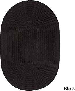 product image for Rhody Rug Madeira Indoor/Outdoor Braided Rug Black 2' x 3' Oval Synthetic, Polypropylene Antimicrobial, Stain Resistant 2' x 3' Outdoor, Indoor Oval
