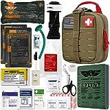 "EVERLIT Emergency Trauma Kit GEN-II Mil-Spec Nylon Laser Cut Pouch with Aluminum Tourniquet 36"" Splint, Military Combat Tacti"