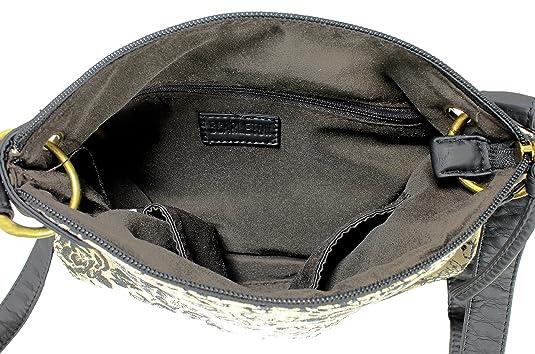 e10ecd755e79 Scarleton Trendy Fabric Crossbody Bag H191401 - Black  Handbags  Amazon.com