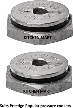 Kitchen Mart safety valve suitable for Prestige Popular and Popular Plus Pressure cookers (set of 2) Pressure Cookers at amazon