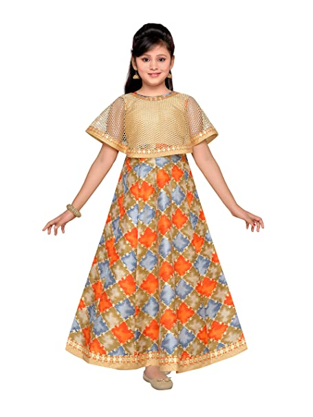 f1e9cb924e0 Adiva Girl s Indian Party Wear Gown for Kids  Amazon.ca  Clothing    Accessories