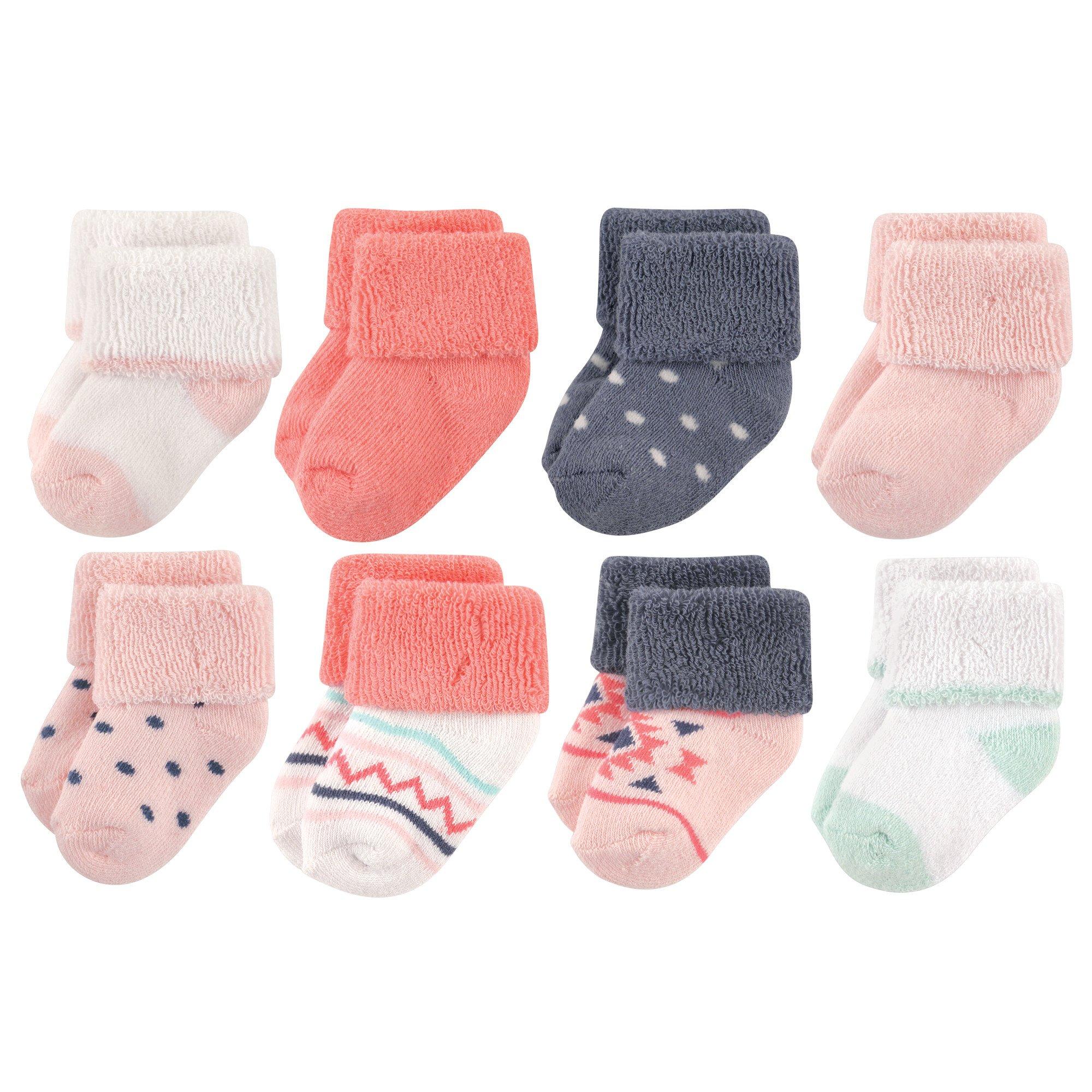 Luvable Friends Unisex Baby Socks, Girl Aztec