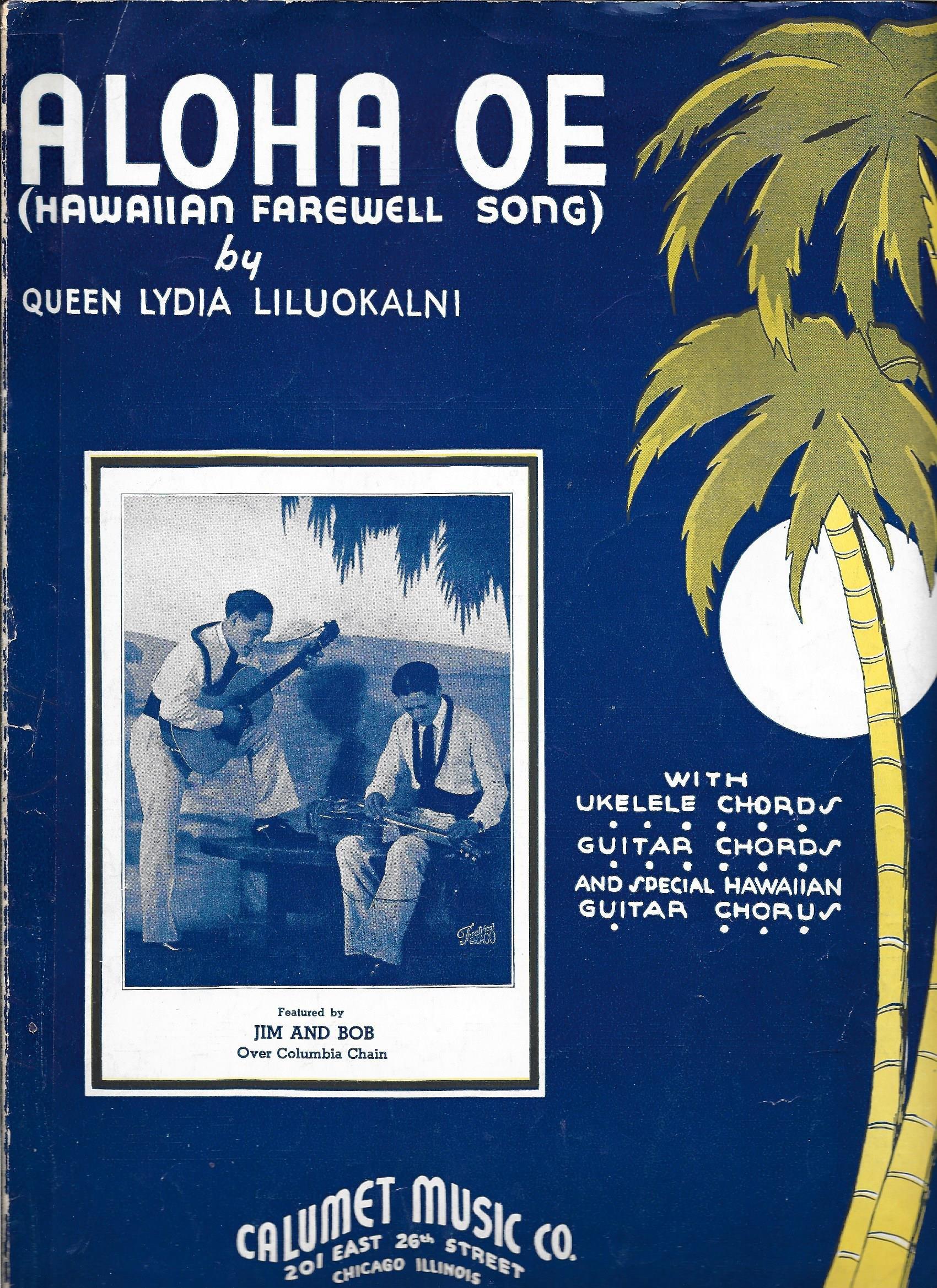 Amazon Aloha Oe Hawaiian Farewell Song Pianovoiceguitar