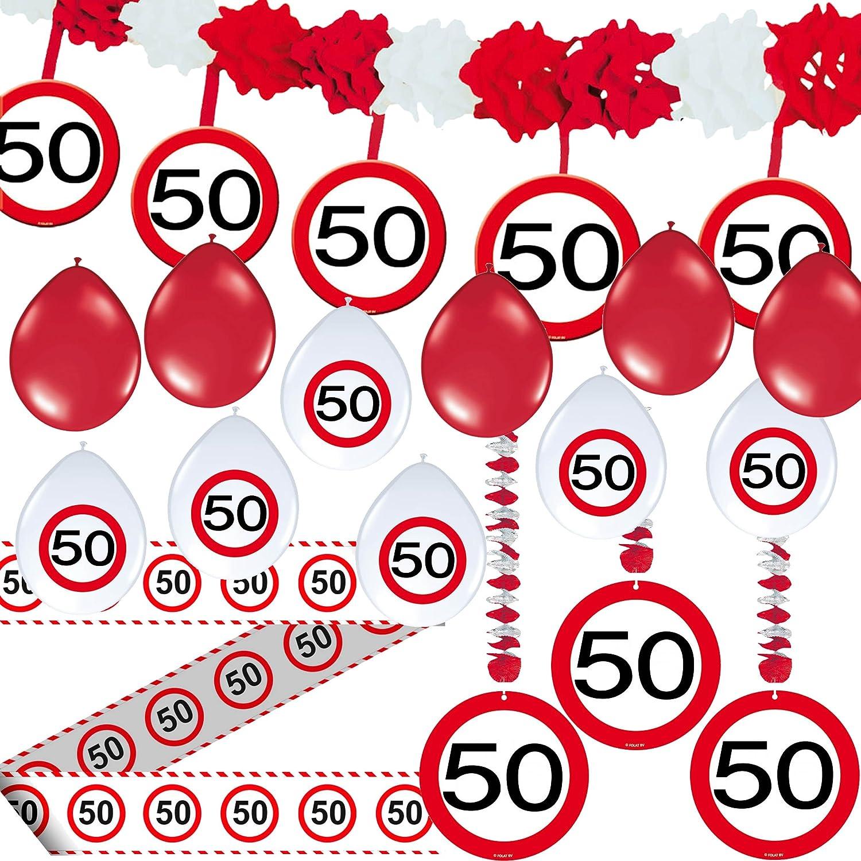 Juego de Fiesta (23 * * de 50 cumpleaños con señal de ...