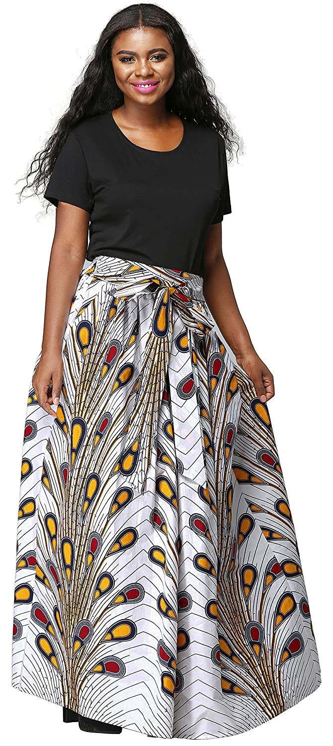 ac789abca ... made of 100% African wax cotton, which is a special artwork for you.  Clothing features: long skirt, the middle with a belt, both sides of the  pocket ...
