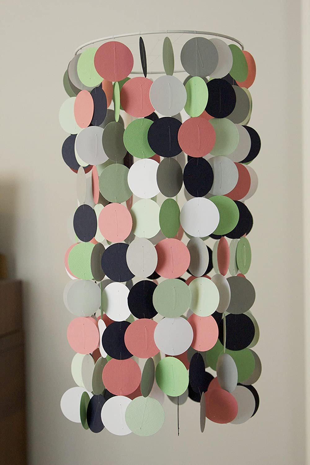Coral, Mint, Navy, and Crib Mobile