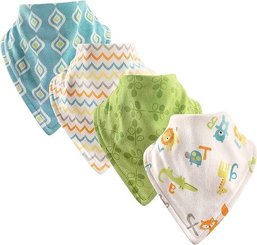 Luvable Friends unisex-baby Basic Cotton Bandana Bib Set Bandana