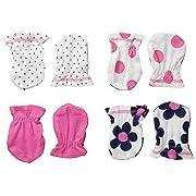 Gerber Baby Girls Apparel - 0 - 3 Months - Flowers, 4 Pack
