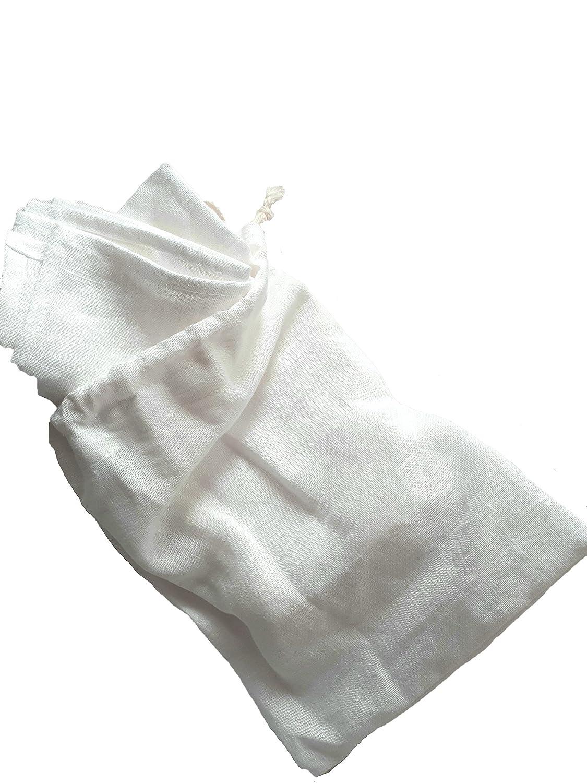 ブルーフラワーリネン、フランスのセット6ホワイトstone-washed French家宝スタイルピュアリネンナプキン、18、