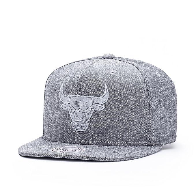 Mitchell & Ness Chicago Bulls Italian Washed Snapback Gorra - talla única - grey