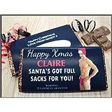 Personalised Joke Funny Happy Christmas 114g Galaxy Milk Chocolate Bar ~ Joke Humour Office Gift Merry Xmas Christmas Stocking Filler Secret Santa Gift Present Idea N92