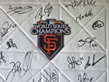 2010 San Francisco Giants Team Autographed / Signed World Series Logo Full Size Base with 24 Signatures Total! Proof Photos