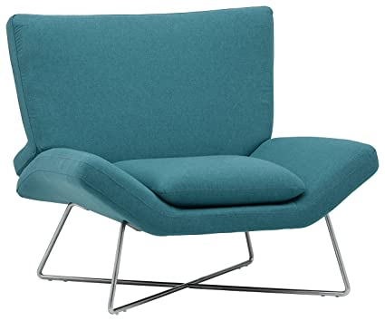 High Quality Rivet Farr Lotus Accent Chair, Aqua