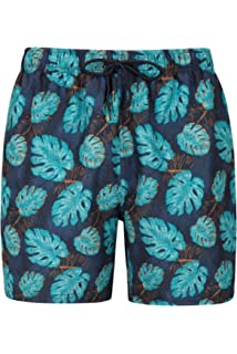 aca7209ddb Mountain Warehouse Aruba Printed Mens Swim Shorts - Lightweight Swimming  Trunks, Internal Mesh Short Trousers,…