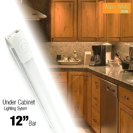 Cyron 12 Inch LED 240 Lumen Lighting Kit, Under Cabinet Counter Accent Light  Bar,
