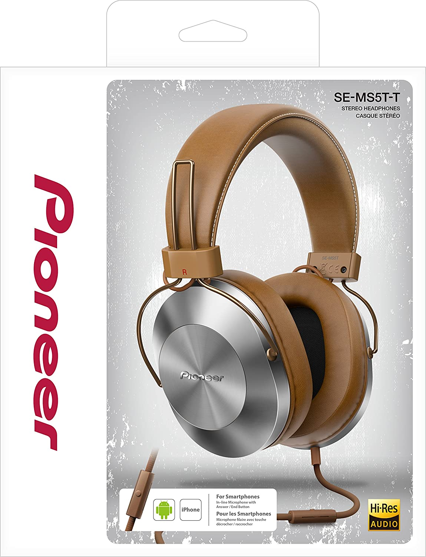 Pioneer SE-MS5T-T - Auriculares de tipo diadema (HiRes, power bass ...