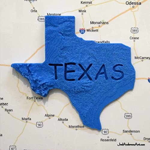 Amazon.com: 3D Texas Elevation Map over West Texas 8\