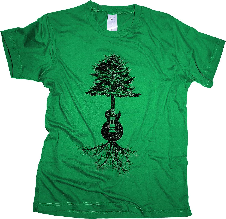 Guitar Roots – Camiseta de Hombre | Guitarrista Guitarra Rock Band ...