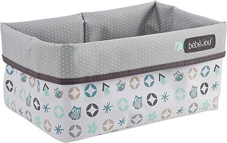 bébé-jou Owl family - cajas y cestas de almacenaje (Cesta de almacenaje, Multicolor, Algodón, Estampado, Rectangular, Interior): Amazon.es: Bebé