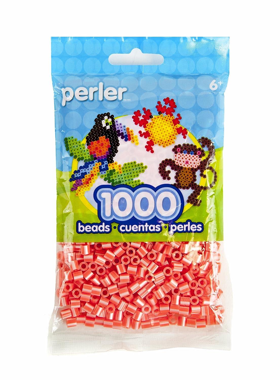 Perler Beads Pearl Stripe Beads, Hot Coral EK Success Brands 80-15148
