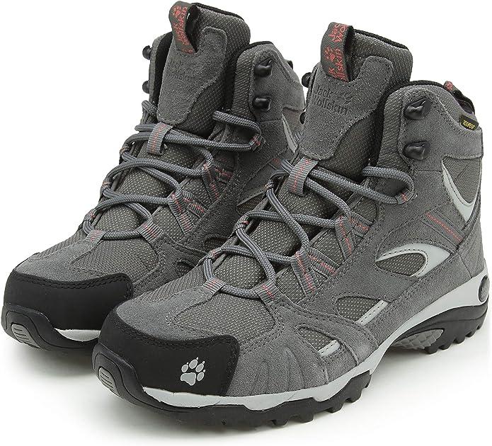 Jack Wolfskin VOJO HIKE MID TEXAPORE WOMEN, Wanderschuhe für Damen aus wasserfestem und atmungsaktivem Material, Outdoor Schuhe mit trittsicherer und