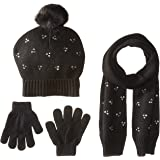 ea45130ed Amazon.com: Girls 4-14 SO Marled Sparkle Pom-Pom Hat & Flip-Top ...