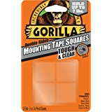 "Gorilla 6067201 Mounting Tape Squares, 1"" Pre-Cut, Clear (24 squares)"