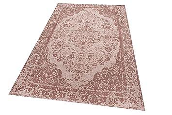 Parwis Jacq, 70x140cm, Mushroom, Orient Wohnzimmer Teppich, Handgewebt,  Wolle