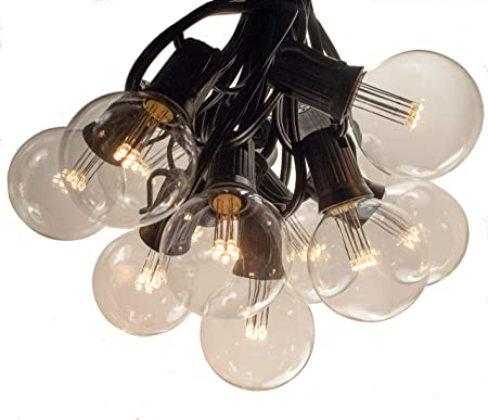 G50 Clear Outdoor Patio Globe String Lights 100/', 50/' and 25/' Lengths