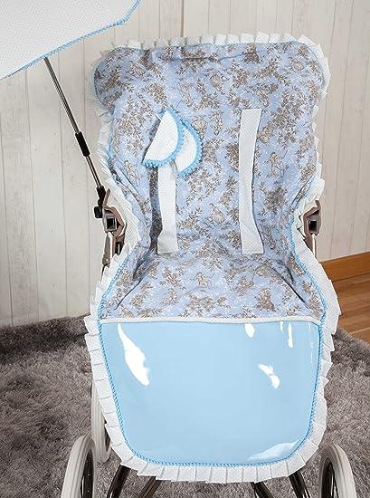 Babyline Toile - Colchoneta para silla de paseo, color azul