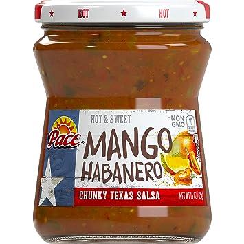 Pace Mango Habanero Salsa, Hot, 15 Ounce