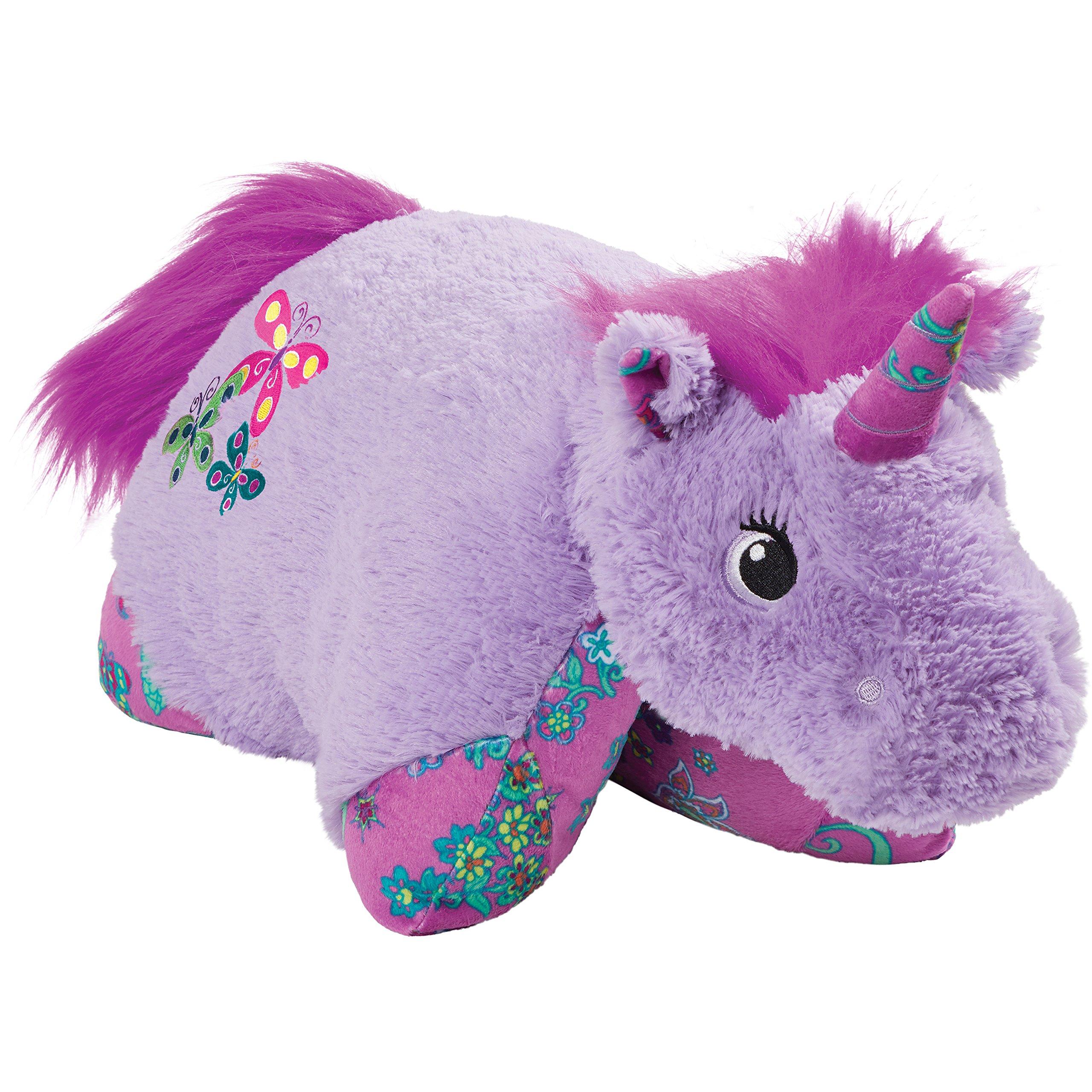 Pillow Pets Colorful Lavender Unicorn, 18'' Stuffed Animal Plush Toy