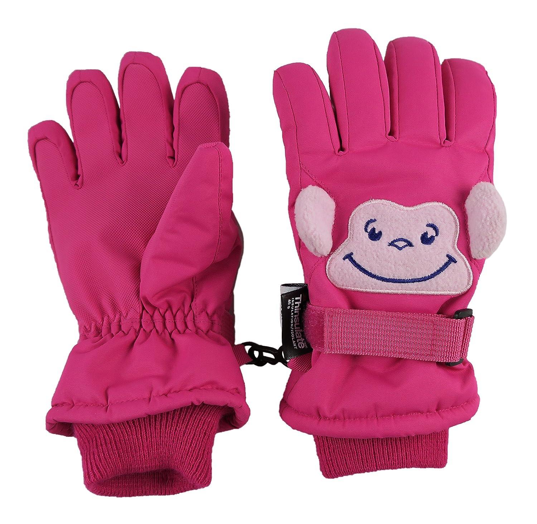 N'Ice Caps Little Kids Squeaky Sound Cute Animal Face Waterproof Gloves 4982