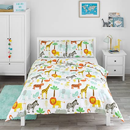 Dream Fun Copripiumino.Bloomsbury Mill Safari Adventure Jungle Animals Kids Bedding