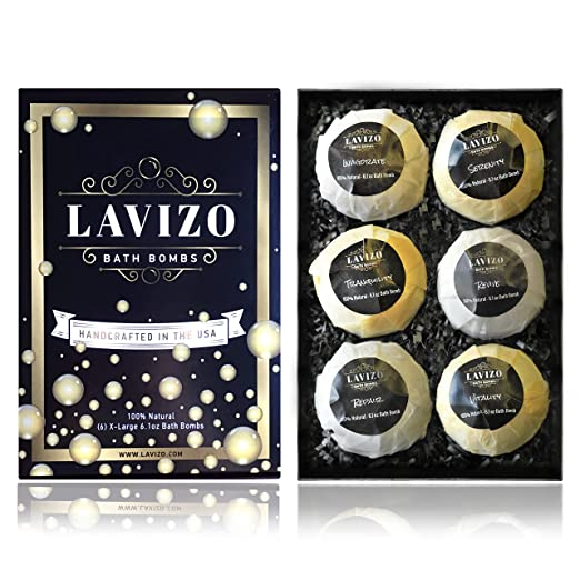 Premium Bath Bombs Gift Set by Lavizo