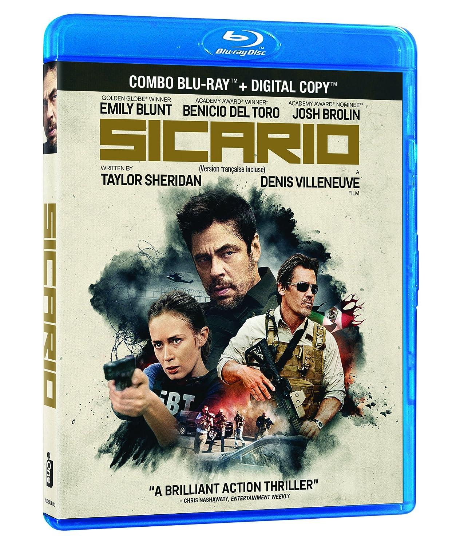 Sicario [Blu-ray + Digital Copy] Emily Blunt Benicio Del Toro Josh Brolin Denis Villeneuve