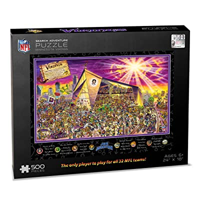 NFL Minnesota Vikings Joe Journeyman Puzzle - 500-piece : Sports & Outdoors