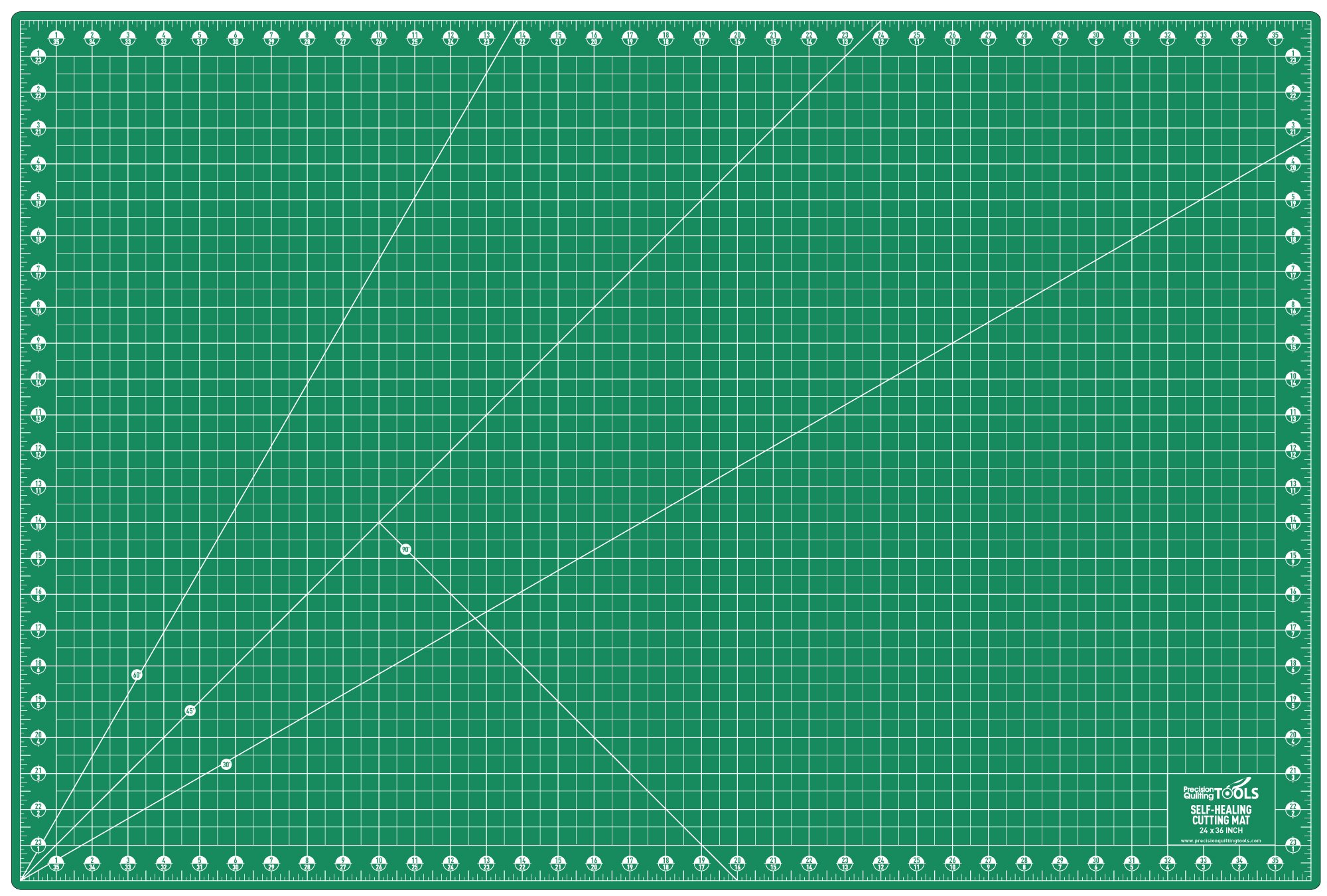 Precision Quilting Tools Professional Self-Healing Double Sided Rotary Cutting Mat 24'' x 36''