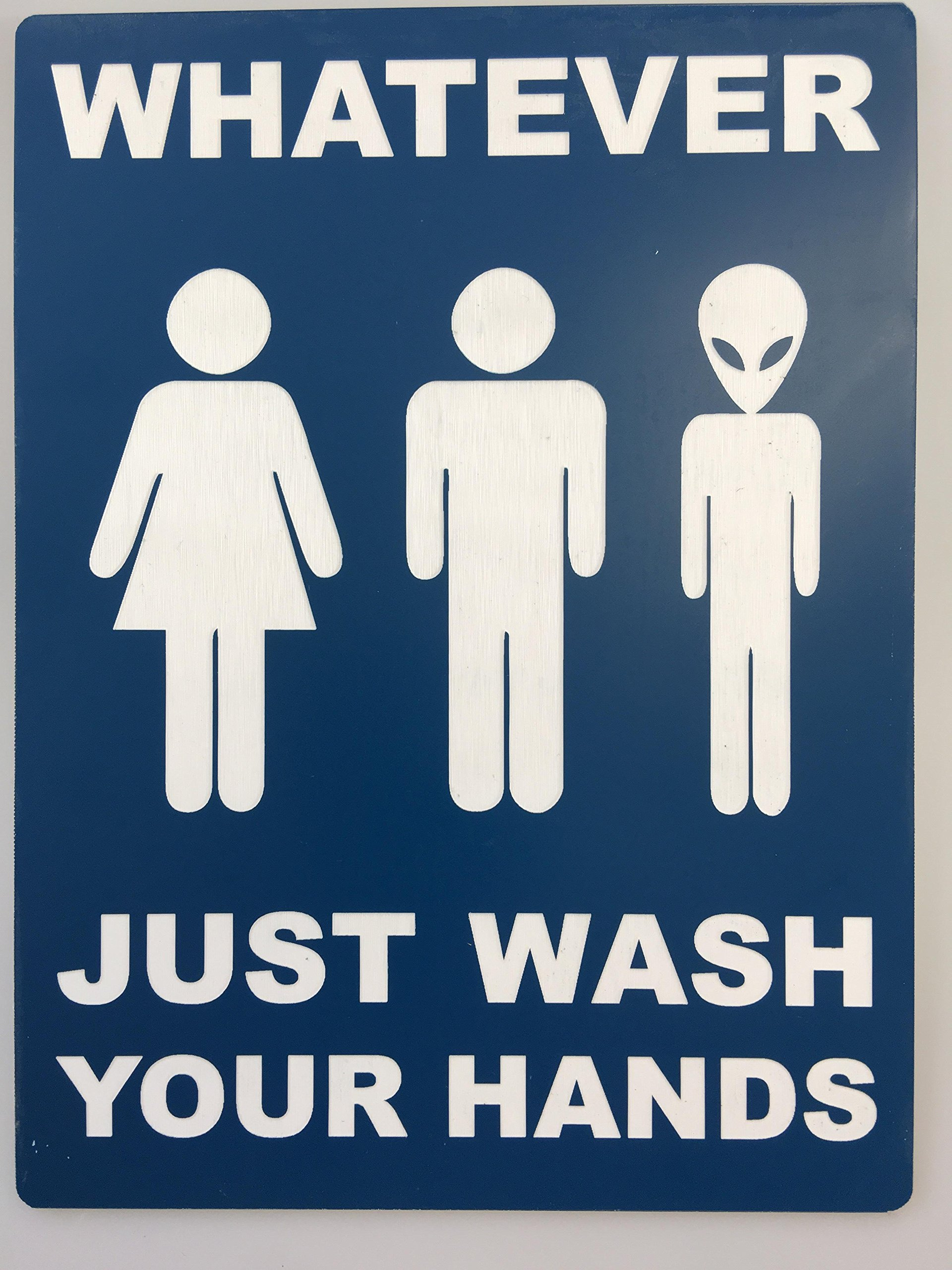 Whatever Alien Restroom Sign