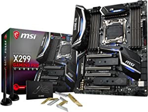 MSI Performance Gaming Intel X299 LGA 2066 DDR4 USB 3.1 SLI ATX Motherboard (X299 Gaming PRO Carbon AC)