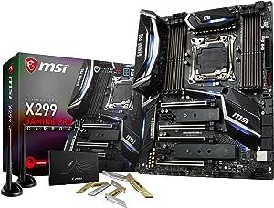 MSI Performance Gaming Intel X299 LGA 2066 DDR4 USB 3.1 SLI ATX Motherboard (X299 Gaming PRO Carbon AC)