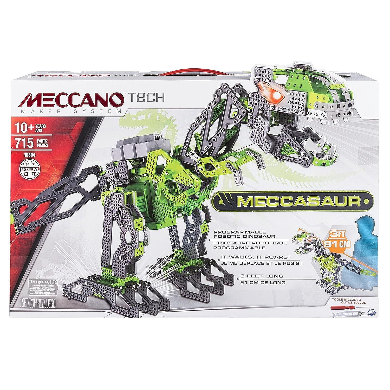 Meccano 6028398 - Meccasauro Dinosauro Interattivo, 715 pz. Spin Master Italia S.R.L