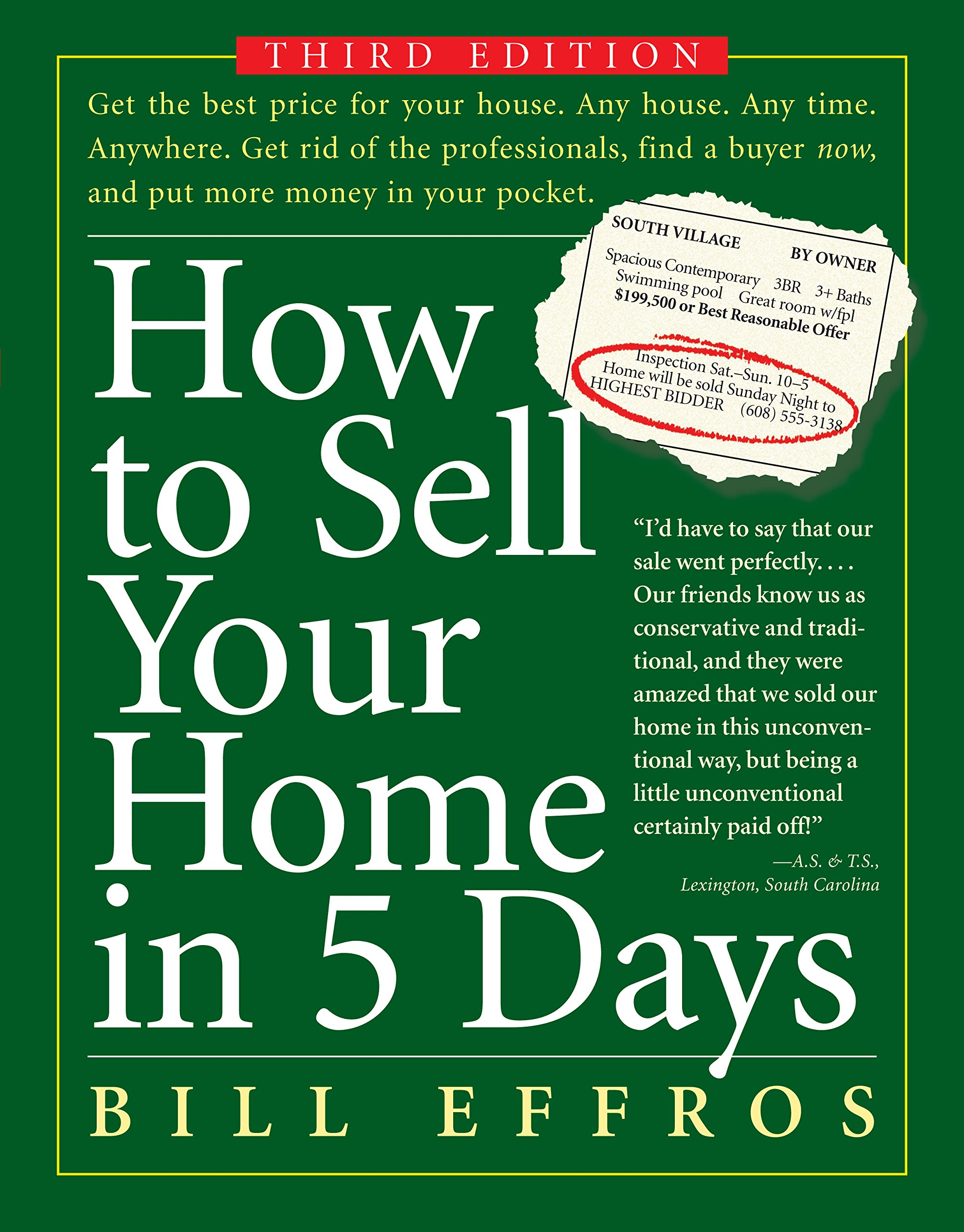 How to Sell Your Home in 5 Days ISBN-13 9780761146810