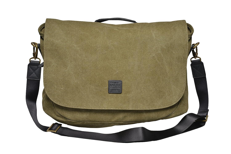 SOUVE Bag Canvas Messenger Bag Oslo I Laptoptasche bis 15,6 Zoll in Verschiedenen Farben I Wasserabweisende Umhängetasche aus Canvas-Baumwolle I Hochwertige Schultertasche mit Laptopfach Souve Bag Co
