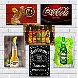 Kit Com 6 Placas Em Mdf - Bar - Bebidas - R+ Adesivos