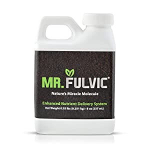 Fulvic Acid Raw Organic Soil Conditioner, 8 oz Natural Humic Plant Amendment