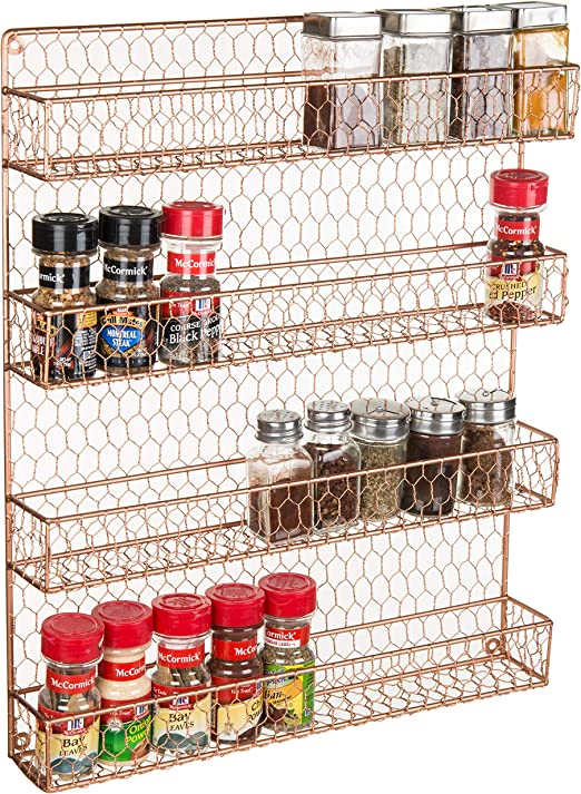 Dollhouse Miniature Chrysnbon Kitchen Wall Hanging Spice Rack CB54